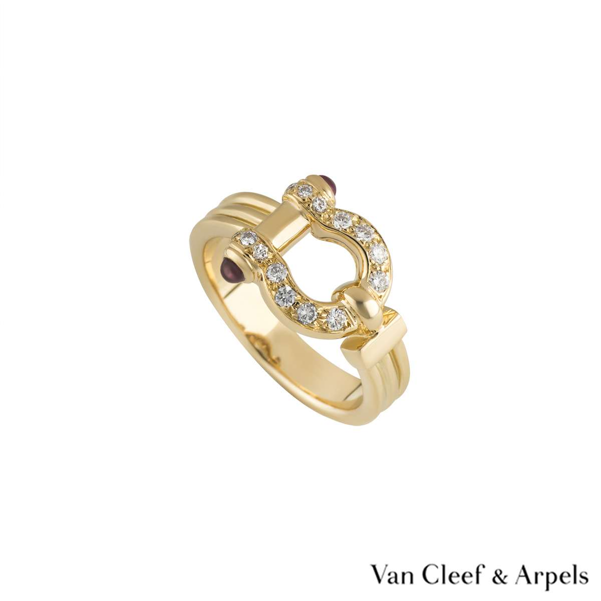Van Cleef & Arpels Diamond & Ruby Horseshoe Ring
